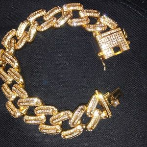 Other - Iced out Cuban link bracelet.